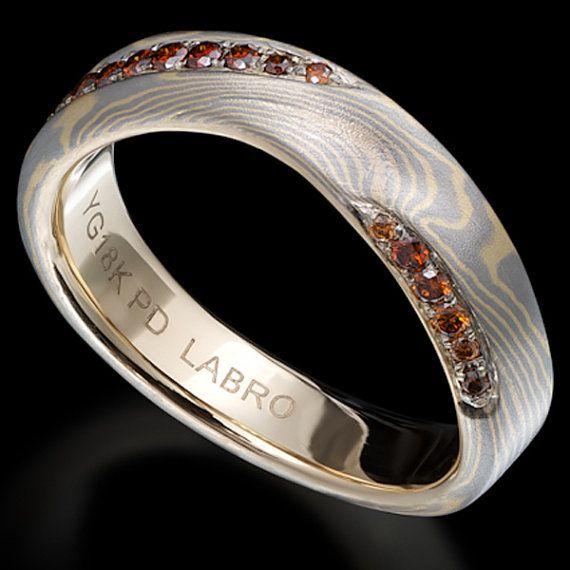 Inna Moe Gane Wedding Ring With Cognac Diamonds