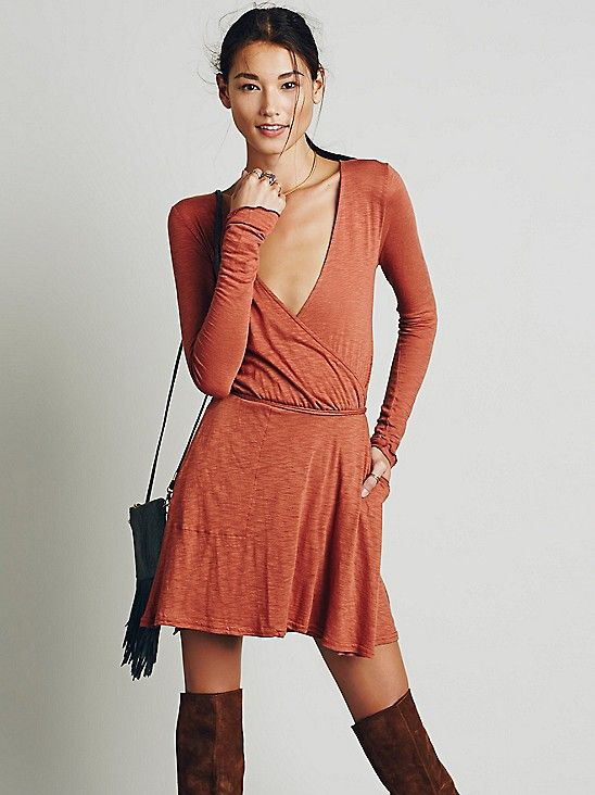 Tiny Dancer Wrap Dress Free People
