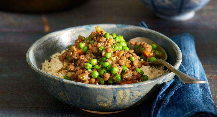Lentil and pea stew