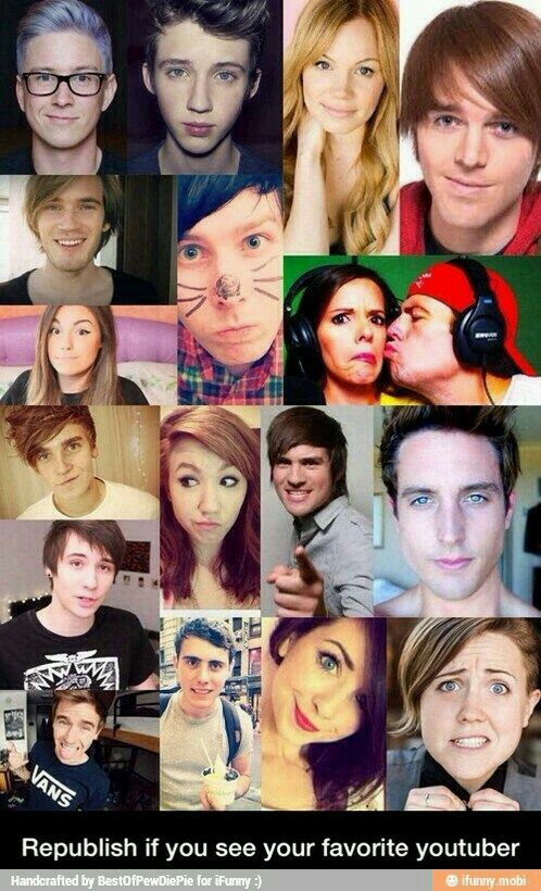 *looks at all of them* oh look... *cant decide* hm *posts it alone for every YouTuber* mk