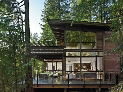 Gambier Island House in Canada designed by Turkel Design.  It blends well with all that wood...