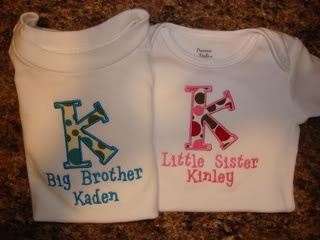 This would be cute to make with iron on fabric and puff paint!! Rylin & Ryker!!!!