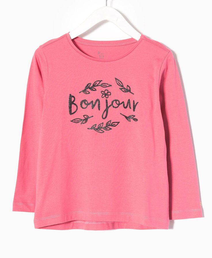 Μπλούζα με σχέδιο Bonjour | Poulain.gr