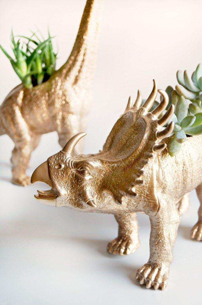 These DIY Dinosaur Planters make unique DIY Christmas gift ideas.