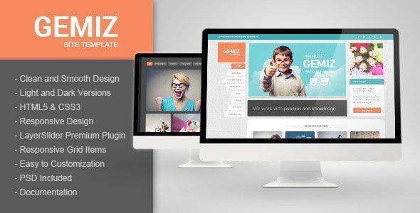 Gemiz - Themeforest Portfolio HTML Template