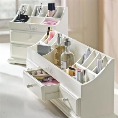 makeup organizing: pottery barn teen I have this it is fab