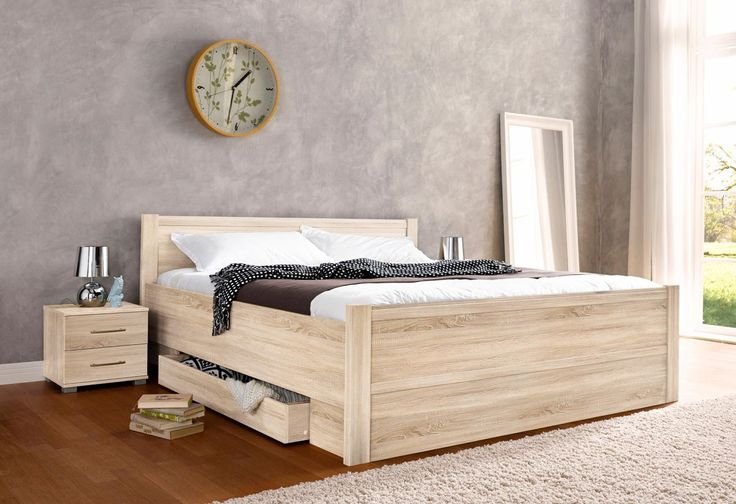 Die besten 25+ Betten mit komforthöhe und stauraum Ideen auf - schlafzimmer aus massivholz