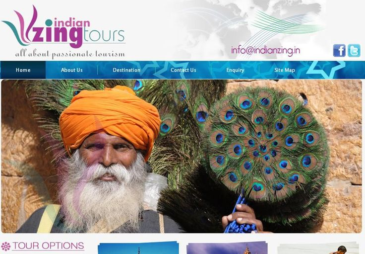 New Website for an Indian #Tour & #Travel Company (Indian Zing) www.indianzing.in/