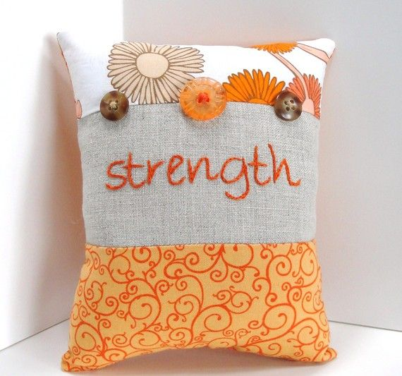 strength embroidery pillow moonspiritstudios #decor, #gift