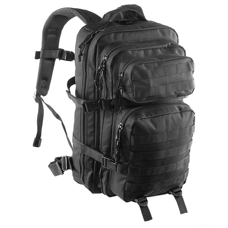 Clarkson Goods Tactical MOLLE Rucksack, Military Combat Assault Bag, 36L Black: Amazon.co.uk: Sports & Outdoors