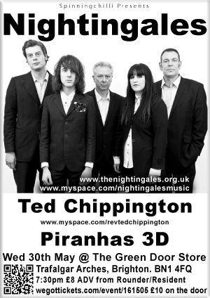 Nightingales, Ted Chippington, Piranhas 3D 30/5/12 Green Door Store, Brighton