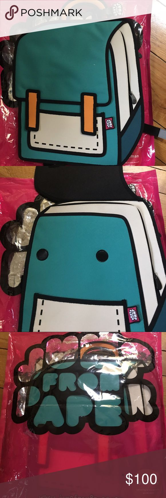 Jump from paper - spacebag brand new Jump from paper- spacebag turquoise backpack brand new in bag jump from paper Bags Backpacks