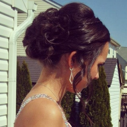Prom hair updo I like the top and front!