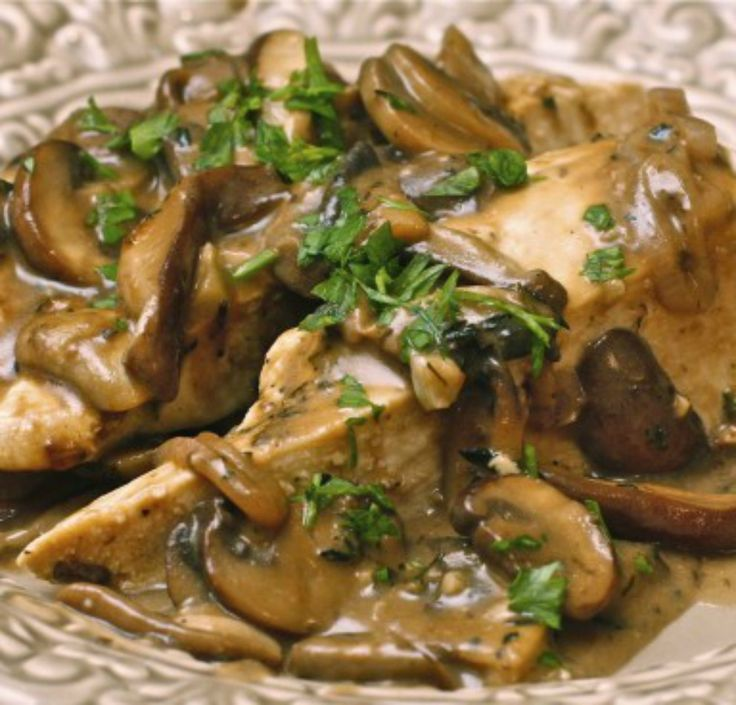 Chicken with wild mushrooms and balsamic cream sauce | The Hopeless Housewife®