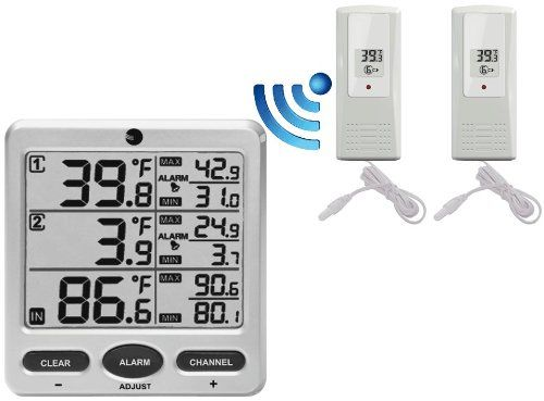 Ambient Weather WS-09 8-Channel Wireless Refrigerator / Freezer Thermometer Alarm Set  //Price: $ & FREE Shipping //     #sports #sport #active #fit #football #soccer #basketball #ball #gametime   #fun #game #games #crowd #fans #play #playing #player #field #green #grass #score   #goal #action #kick #throw #pass #win #winning