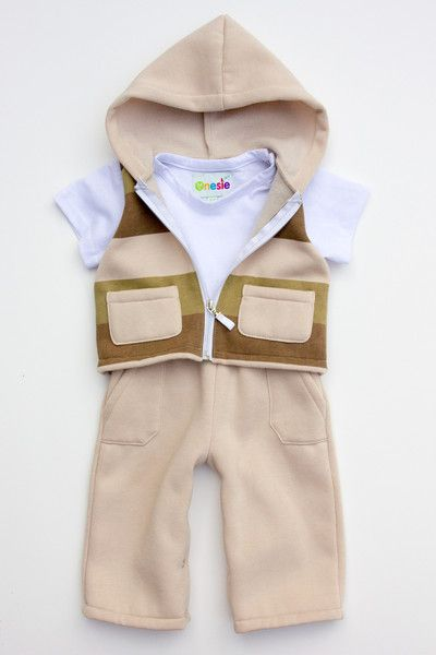 Winter baby onesie that looks like 3 separate pieces!