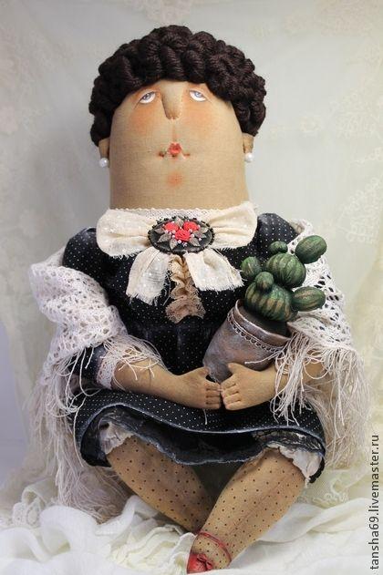 Коллекционные куклы ручной работы. Ярмарка Мастеров - ручная работа Дама с кактусом.... Handmade.