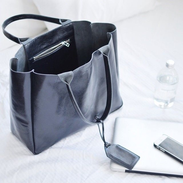 black heirloom tote by RIBANDHULL via April @coffeewithme | Websta