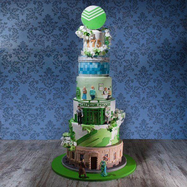 Корпоративные праздничные торты Мастерской Владимира Сизова