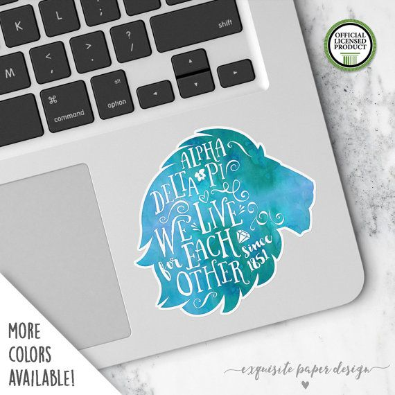 Alpha Delta Pi  Small Alphie Lion Decal  by ExquisitePaperDesign