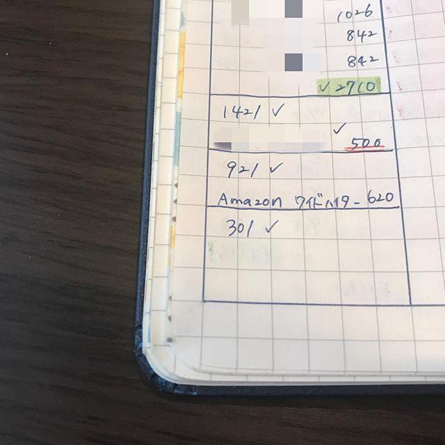 Sakurayuino家計簿 お給料日が来たので家計簿締めました