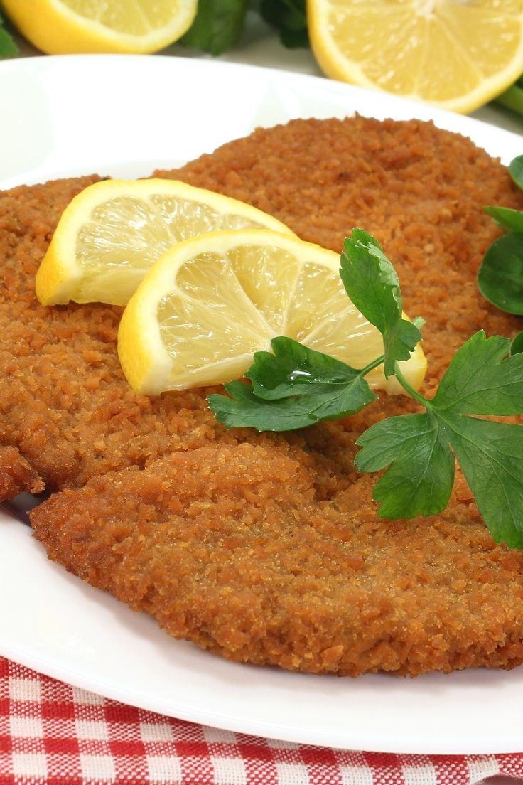 Pork Schnitzel - delicious, made last night. Served with Ina Garten's cauliflower gratin and green salad. My changes: I mixed panko with the flour and that was it. No milk and egg mixture. It was perfect. Family approved!