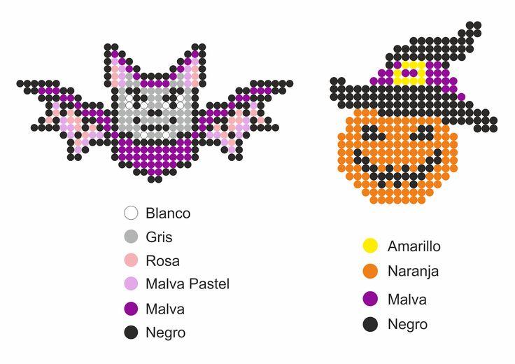 Patrones Hama Beads de Halloween
