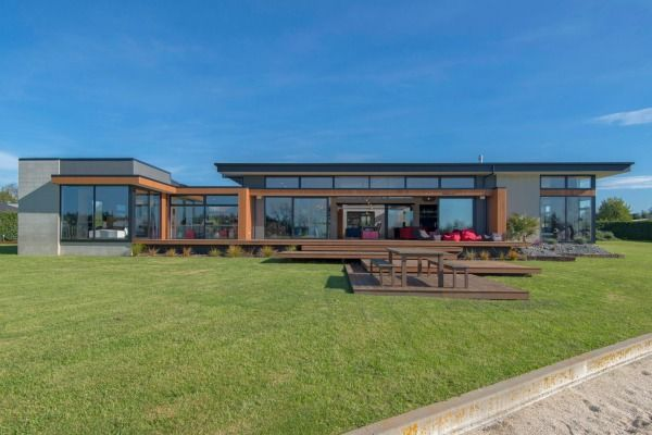RANGIORA, CANTERBURY: Built from cedar, concrete and plaster, the modern design of the home earned it a Silver Award in last year's Master Builders House of the Year.