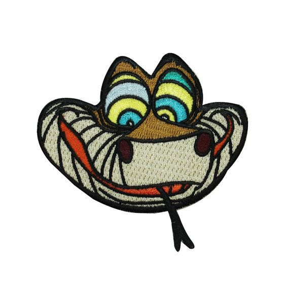 Jungle Book Snake Kaa Iron-On Craft Patch Disney by YourPatchStore