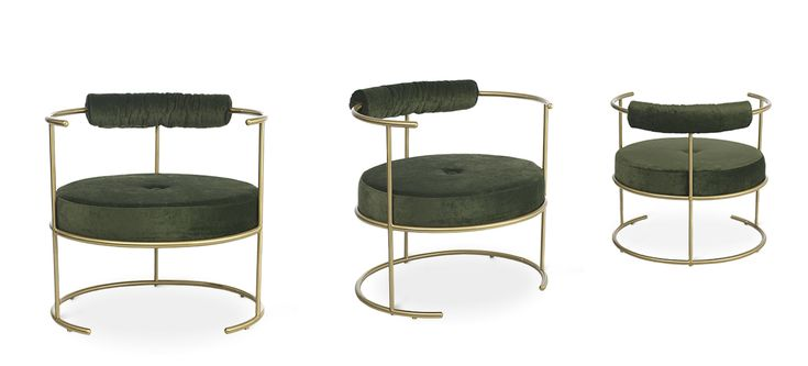 The Pure Lounge Chair updates the sober lines of the 20*s into discrete details. It is an elegant chair with fine lines and simultaneously an imposing image.It is perfect to sit and to relax in your living room.   Materials: Brass pipe   varnish antioxidant, velvet