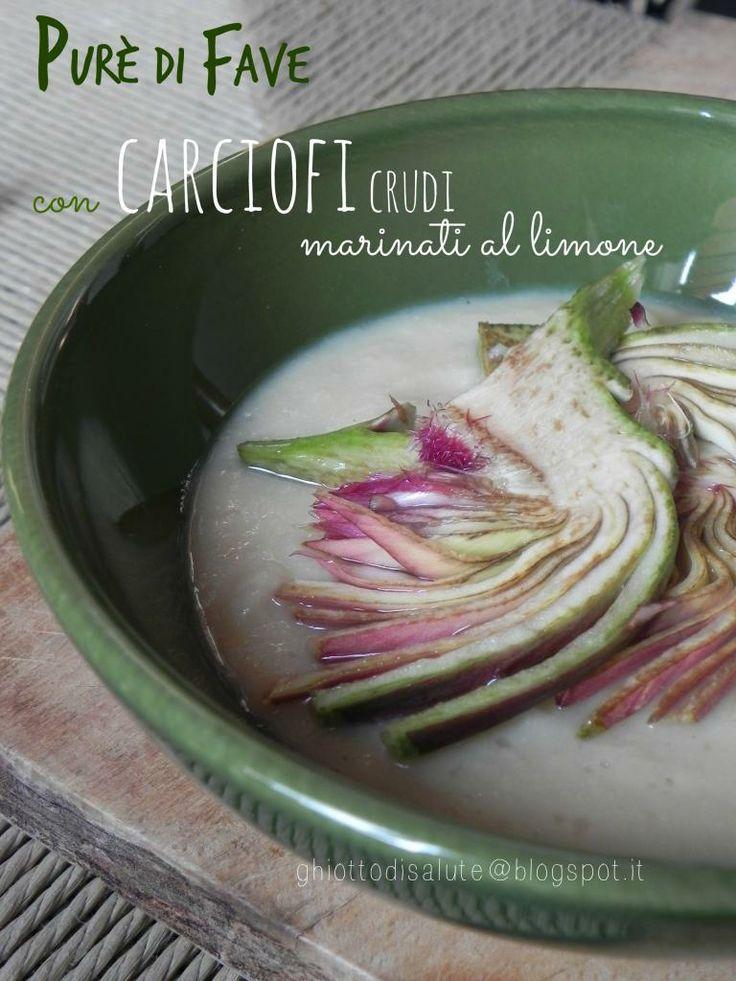 Carciofi crudi marinati su purè di fave by Ghiotto di salute