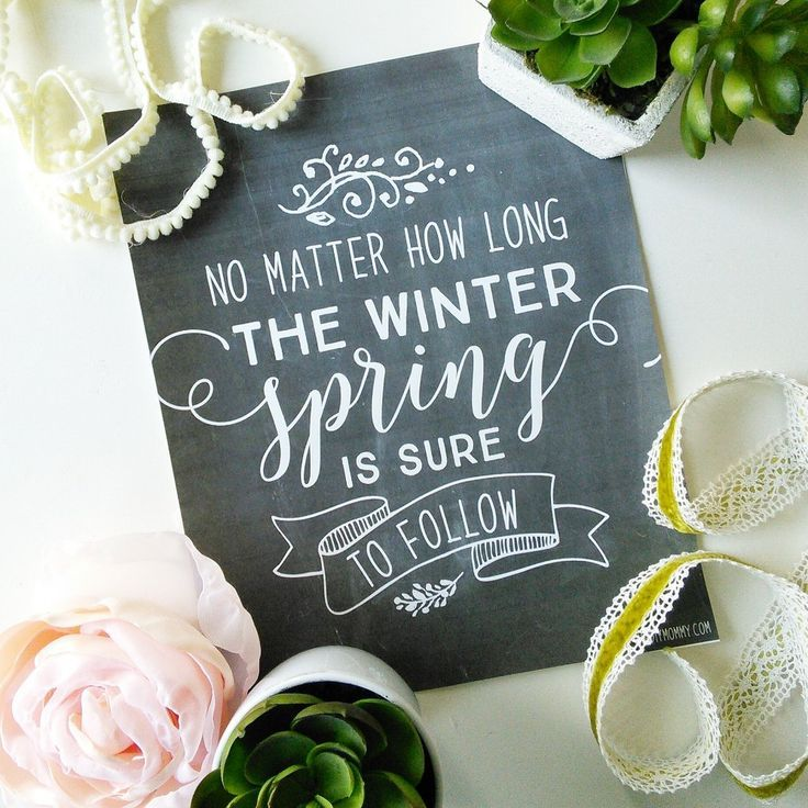 Spring Is Sure to Follow – Free Spring Quote Chalkboard Printable Art Spring Is Sure to Follow – Free Spring Quote Chalkboard Printable Art