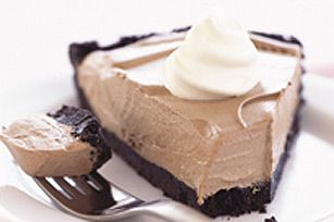Cool Whip Chocolate Pudding Pie1-1/4 cups Oreo Baking Crumbs  1/4 cup butter, melted  1 pkg. (4-serving size) Jell-O Chocolate Instant Pudding  1-1/2 cups cold milk  1-1/2 cups thawed Cool Whip Whipped Topping, divided    Make It  Mix baking crumbs and butter in 9-inch pie plate; press onto bottom and up side of pie plate.  Beat pudding and milk with whisk 2 min. Stir in 1 cup Cool Whip; spoon into crust.  Refrigerate 30 min. or until set. Serve topped with remaining Cool Whip.