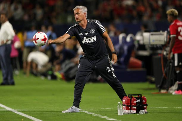 Jose Mourinho the head coach / manager of Manchester United during to the friendly fixture between LA Galaxy and Manchester United at StubHub Center...