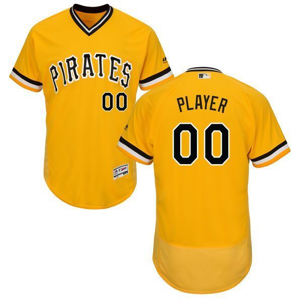 cheap for discount 183c4 07816 Men Pittsburgh Pirates Majestic Alternate Gold Flex Base ...