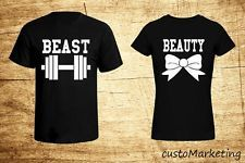 Couple T-Shirt - Beauty and the Beast - Love Matching Shirts - Couple Tee