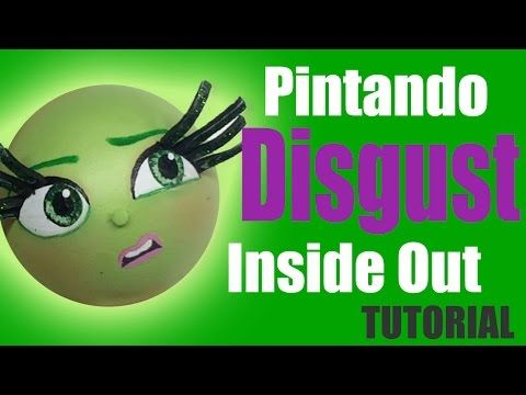 Pintando cara Desagrado Intensamente - Painting Disgust's face Inside out - YouTube