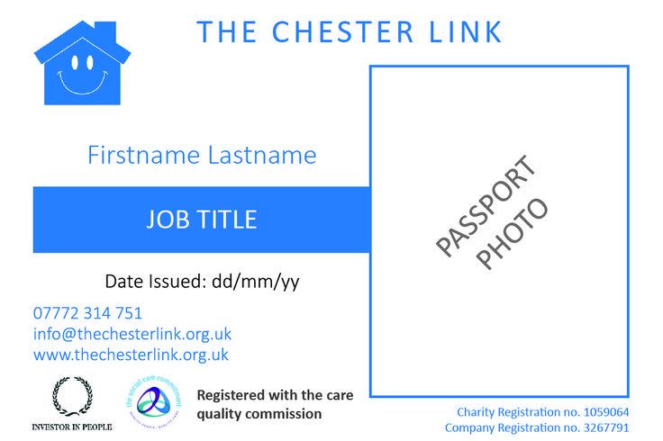 Charity name badge design
