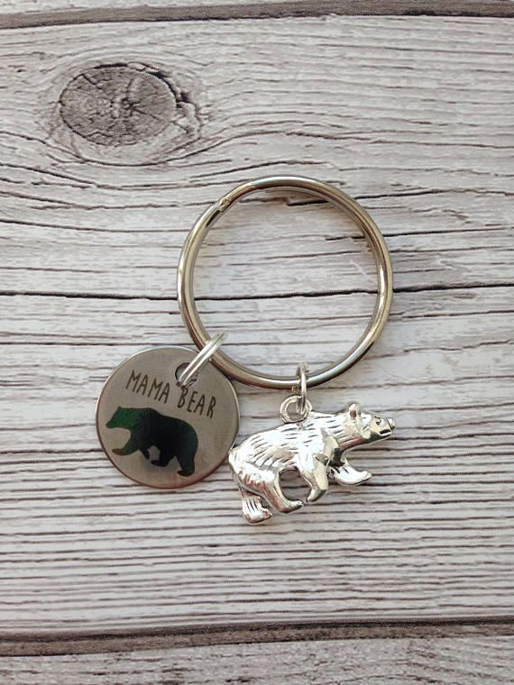 Mama bear keyring mama bear mum mom gift for mum new mum