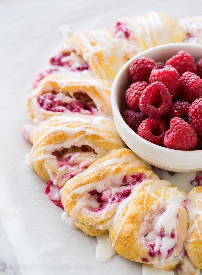 My whole family loves these Lemon Raspberry Cream Cheese Danish Rolls!