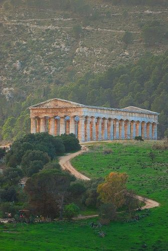 Temple of Concord, Agrigento - Sicily .... the most intact ... (440 BC-430 BC)…