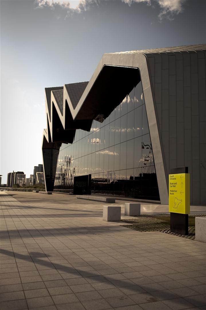 Riverside Museum, Glasgow in Scotland by Zaha Hadid architects
