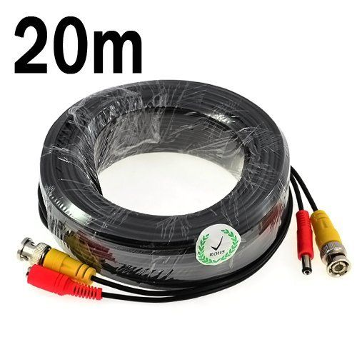 From 2.29:Kkmoon 20m / 65.6 Feet Bnc Video Power Cable For Cctv Camera Dvr Security System (20m)