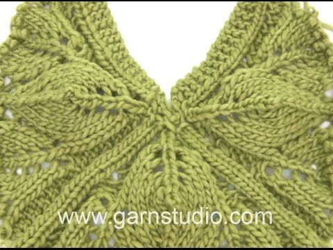 DROPS Knitting Tutorial: How to work the pattern for the shawl in DROPS Extra 0-1111 - YouTube