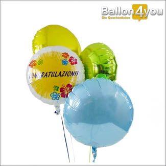 Congratulazioni - Herzlichen Glückwunsch (italienisch) - Ballonbukett XXL