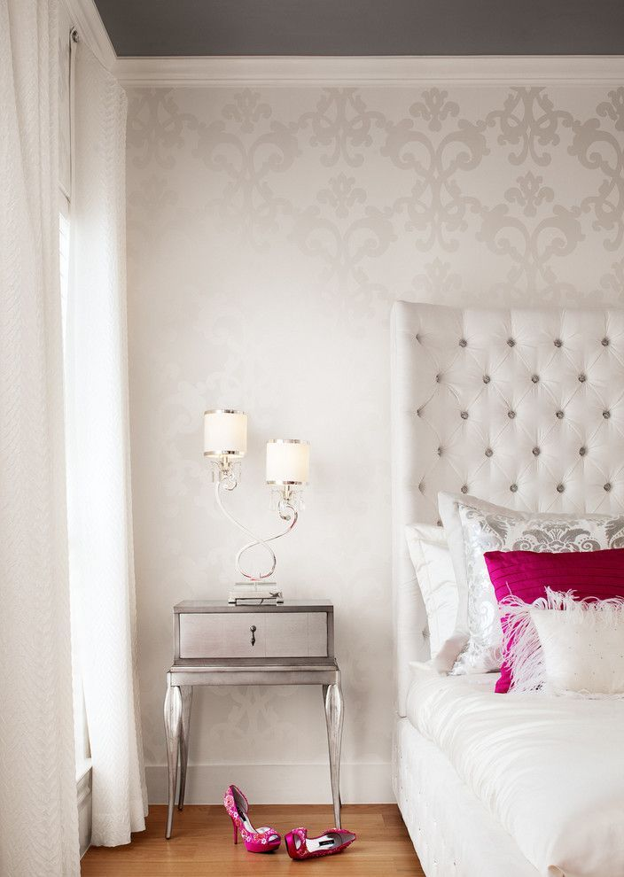 98 best images about creative walls on pinterest for Modern feminine bedroom designs