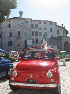 A Valvasone, vicino al fiume Tagliamento, in Fiat 500...spettacolo!
