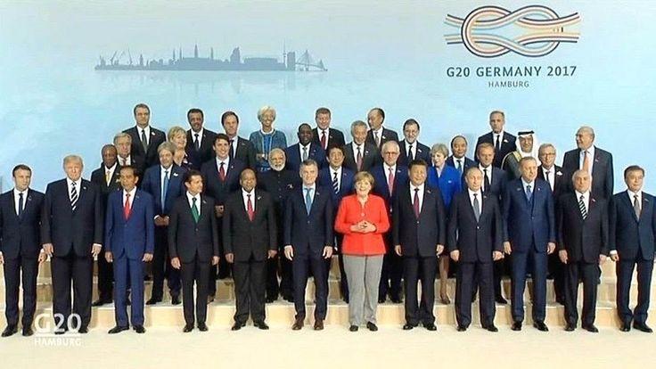 G20 summit 2017 Germany, Hamburg.  Group photo. G20 summit 2017  Pres Tr...