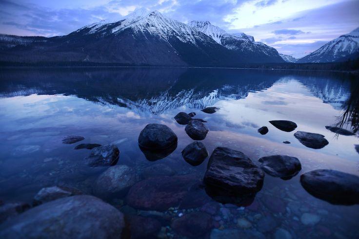 Il Parco Nazionale di Glacier, Montana, Stati Uniti