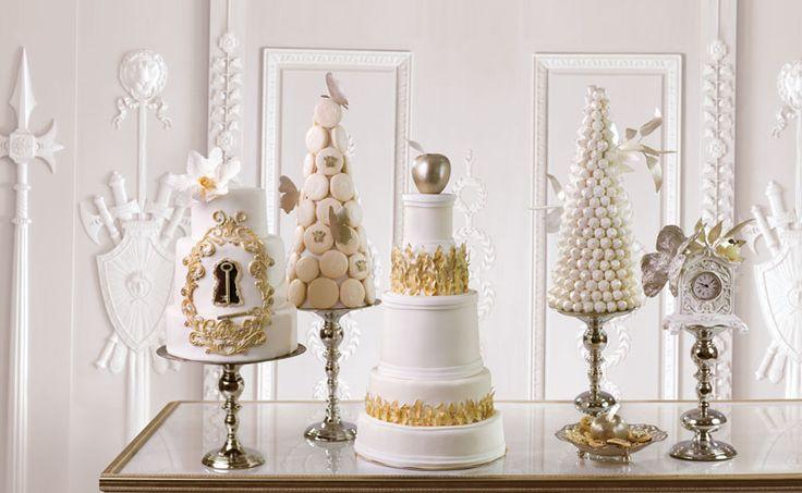 Свадебный торт, кенди-бар и великолепная посуда. журнал: Wedding magazine, фотограф: Сергей Усик, кондитер: Маша Кейк